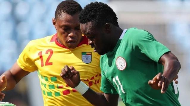 A first half goal from Rabiu Ali handed Nigeria a 1-0 win over a ten-man Benin