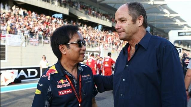 Chalerm Yoovidhya (THA) Red Bull Racing Co-Owner with Gerhard Berger (AUT)